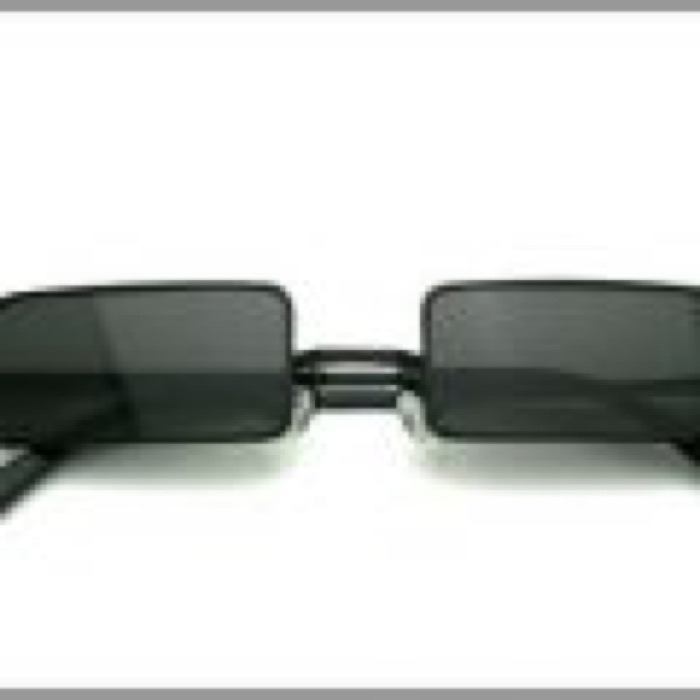 1% Rectangle Eye /  BLACKxBLACK POLARIZED LENS