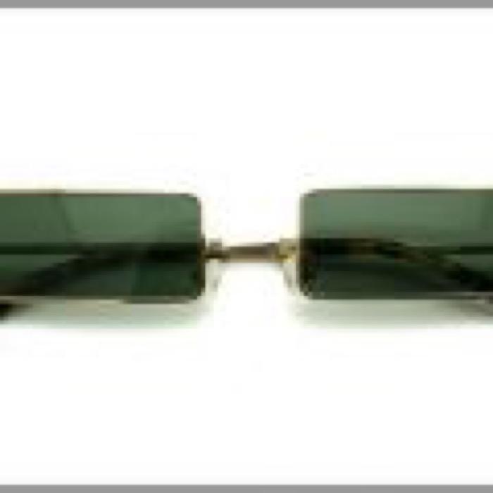 1% Rectangle Eye /  GOLDxG-15 GREEN POLARIZED LENS