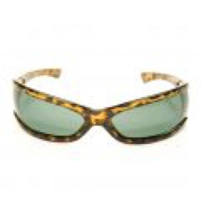 Super Cats Eye Sunglasses / Amber×Green Lens