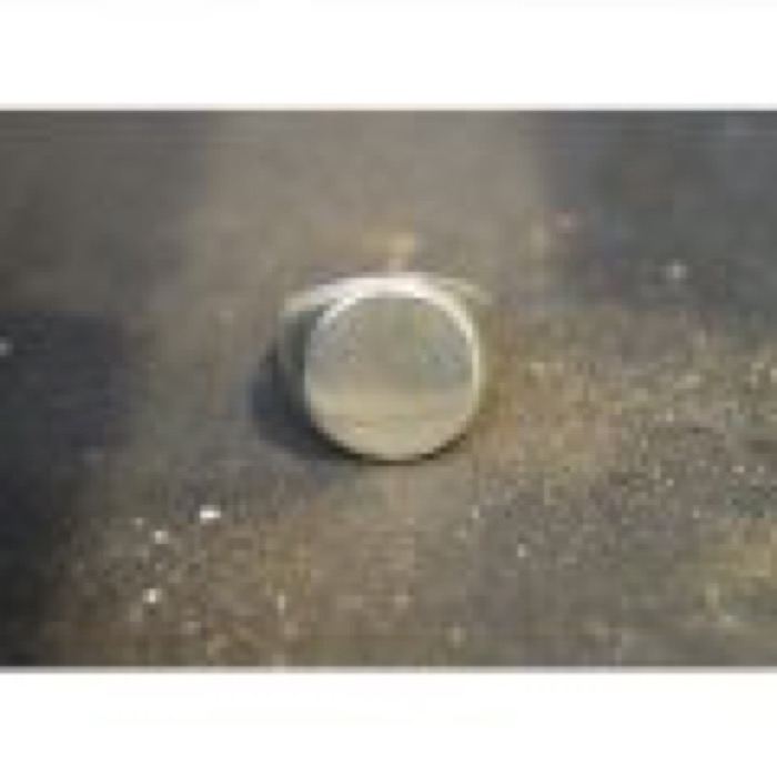 Plane Oval Ring / Silver / #12