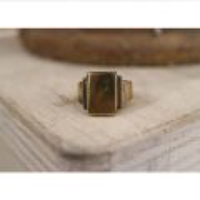 Plane Square Ring / Brass Gold / #10
