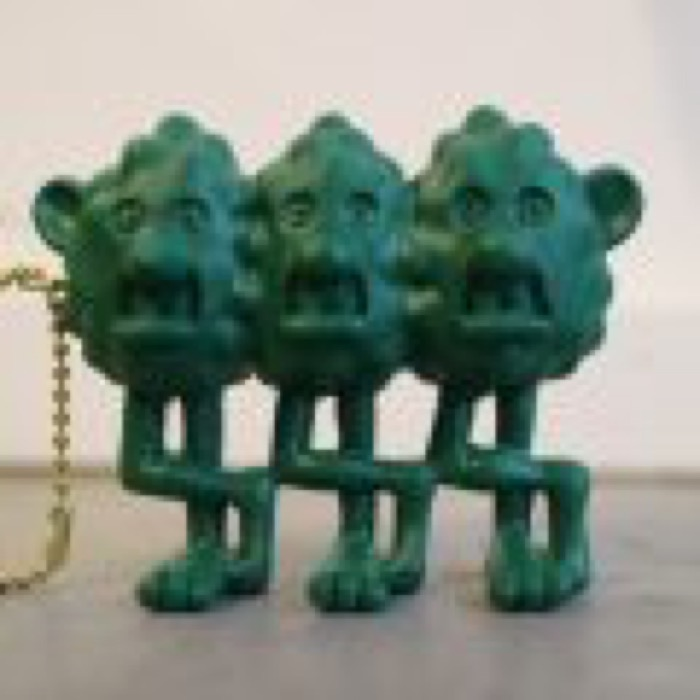"MAD MOUSE COMIC × ジョニー × The Sessions ""SLY BOYS"" FIGURE KEY CHAIN / GREEN"