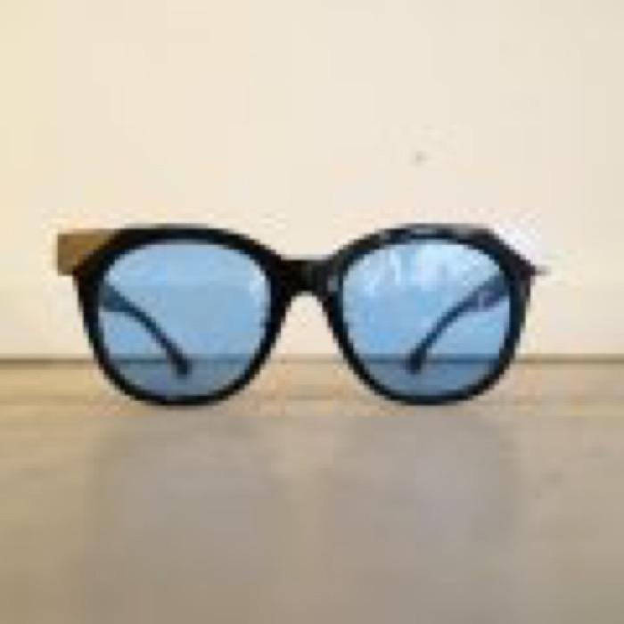 MUDDY / Black×Silver / Blue Lens
