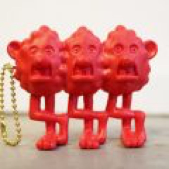 """MAD MOUSE COMIC × ジョニー × The Sessions """"SLY BOYS"""" FIGURE KEY CHAIN / RED"""